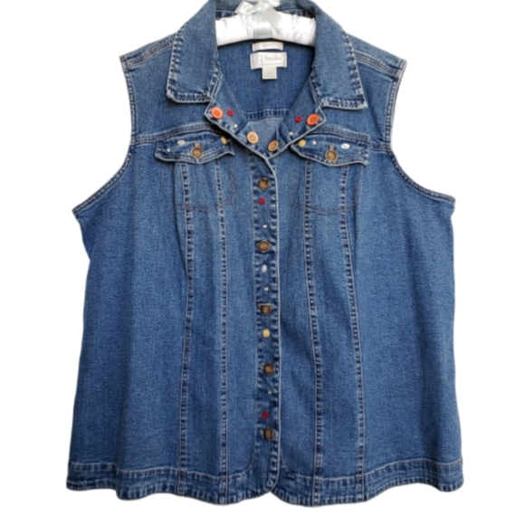CJ Banks Jackets & Blazers - Christopher & Banks denim jeans vest size 2X